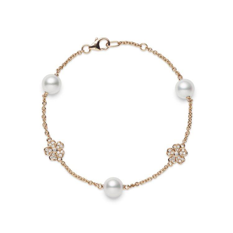 MIKIMOTO Cherry Blossom系列珍珠鑽石手鍊,11萬8,000...