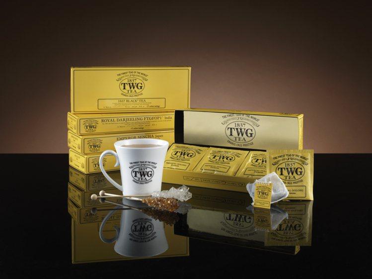 TWG Tea即起精選包裝茶買四贈一(經典棉質茶包系列)。圖/TWG Tea提供