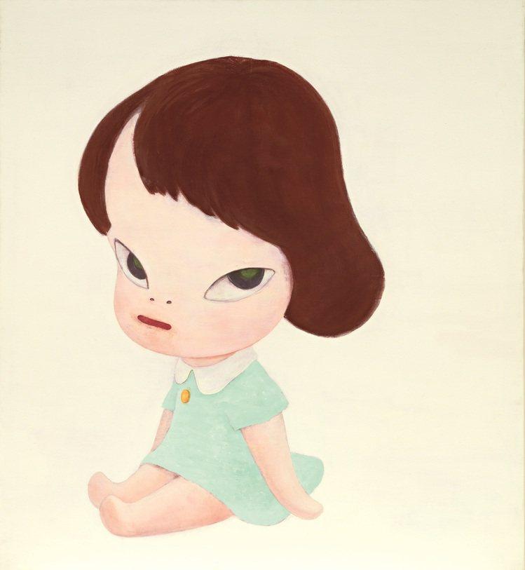 奈良美智「溫室女孩」1995年作,為藝術家歷來拍賣第二高成交作品。圖/富藝斯提供