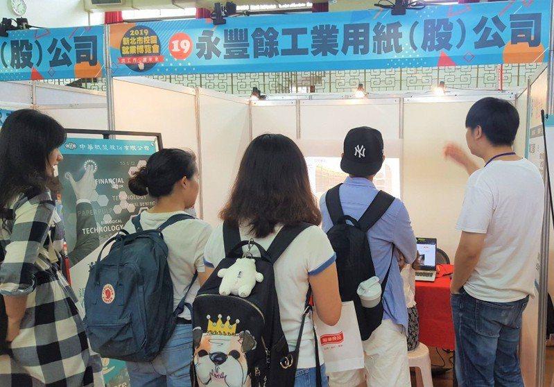 新北勞工局預計3月17日將在淡江大學舉辦校園就業博覽會,邀請電子、科技、飯店、電商等94家廠商到場,提供3300個職缺。圖/新北勞工局提供