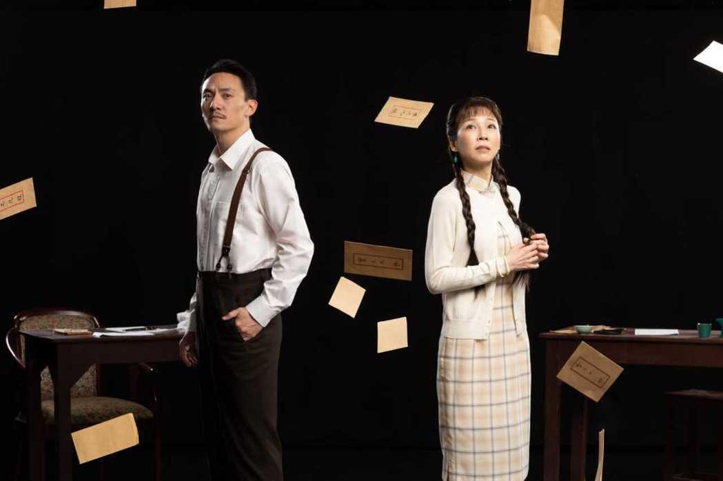 張震(左)、蕭艾(右)分別飾演舞台劇「江/雲•之/間」的男女主角。圖/澤東提供