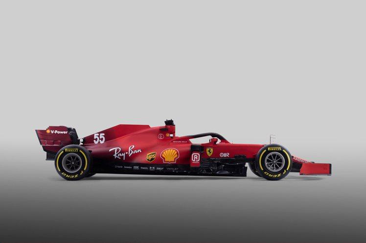 紅色車身、流線車型的SF21,是法拉利2021年將在一級方程式賽道上奔馳的最新戰...