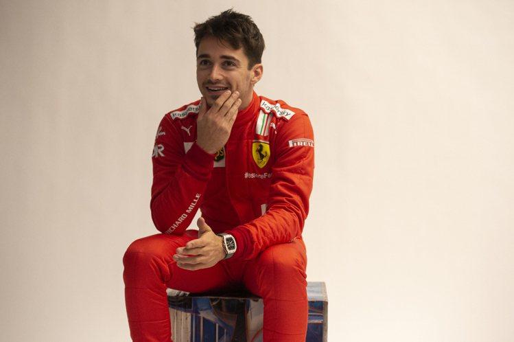 F1一級方程式賽車Ferrari車隊賽車手Charles Leclerc。圖 /...