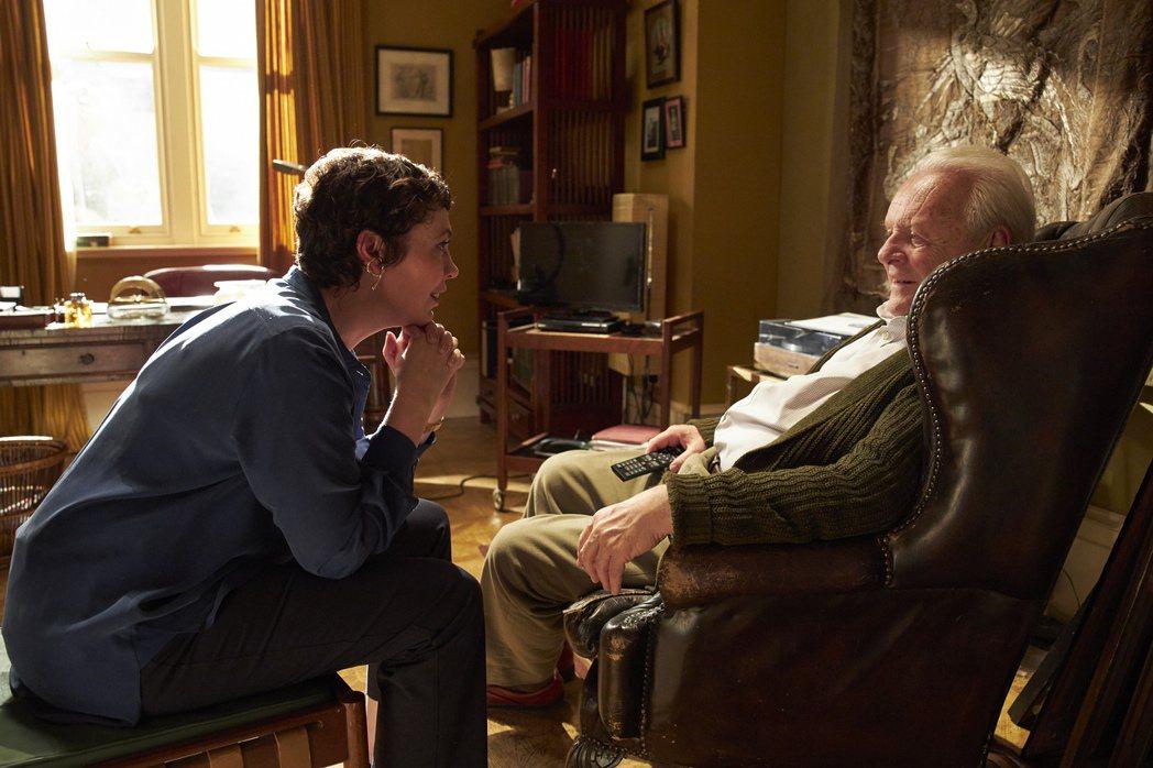 安東尼霍普金斯、奧莉薇亞柯爾曼在「父親」裡飾演一對父女。圖/采昌提供