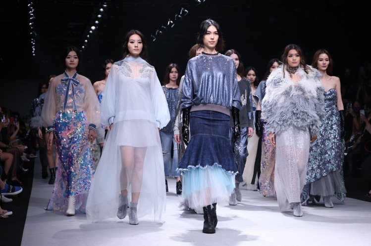溫慶珠於台北時裝周發表2021秋冬系列。記者王聰賢/攝影