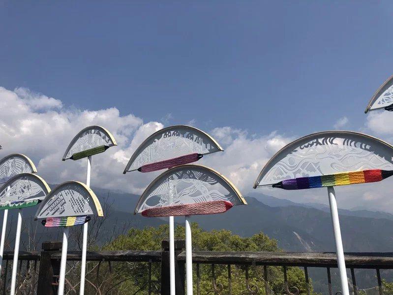 知名紙雕藝術家成若涵作品「刻下,海拔1956」。  圖/參山處提供