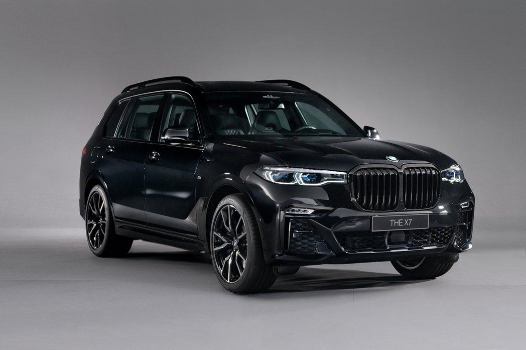 BMW X7 Dark Knight曜黑版特別採用性能氣息十足的全車M Spor...