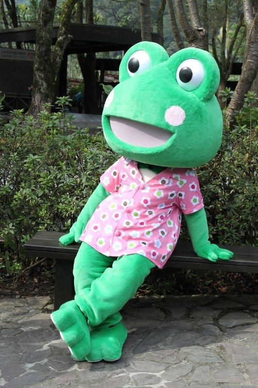 大板根森林溫泉酒店吉祥物「蛙蛙」。  業者/提供