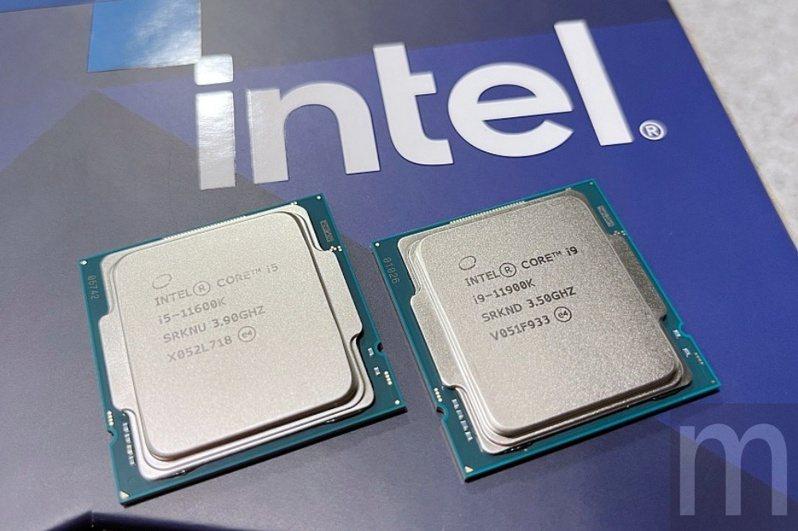 ▲此次提供測試的Core i9-11900K (右),以及Core i5-11600K (左)兩款處理器