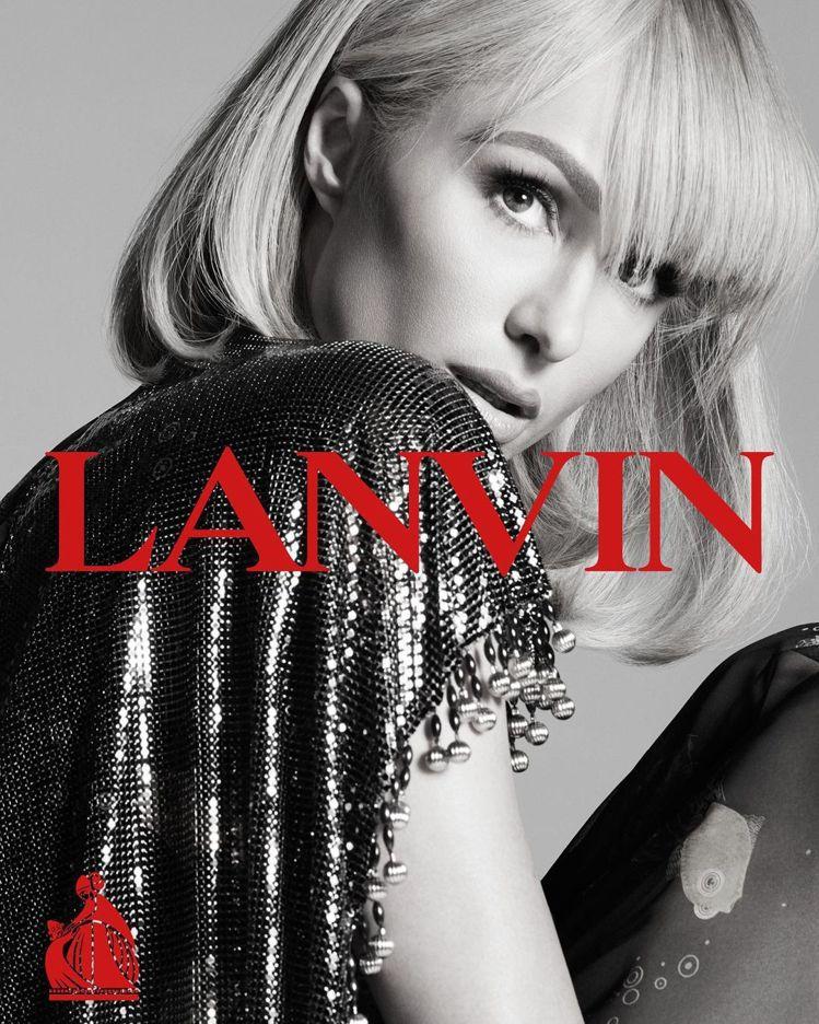 芭黎絲希爾頓擔任法國時尚品牌Lanvin浪凡的春夏形象廣告主角。圖/Lanvin...