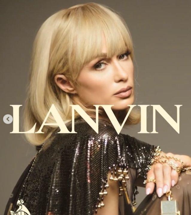 芭黎絲希爾頓擔任法國時尚品牌Lanvin浪凡的春夏形象廣告主角。圖/摘自IG