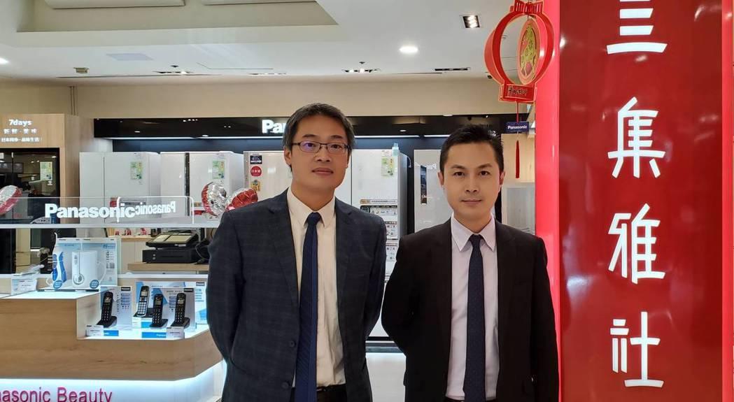 圖左為集雅社財務長李伯昌,右為處長何政鋒。業者提供