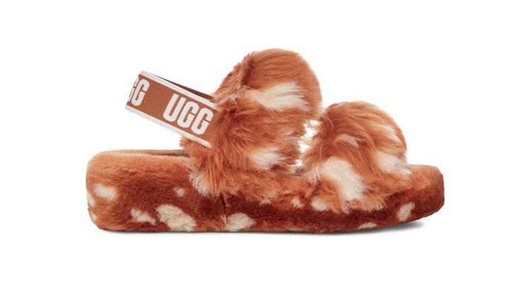 OH YEAH斑紋毛絨涼鞋,4,800元。圖/UGG提供