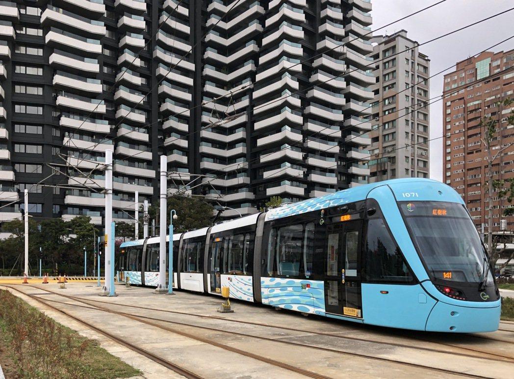 淡海輕軌第一期藍海線於2020年底通車。圖/新北市捷運局提供