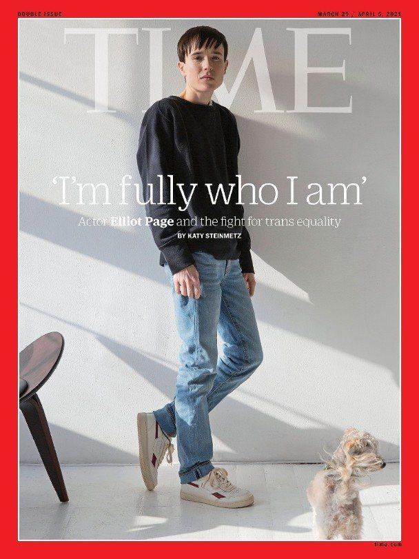 艾略特佩吉登上「時代」雜誌,成為首位跨性別者封面人物。圖/摘自IG