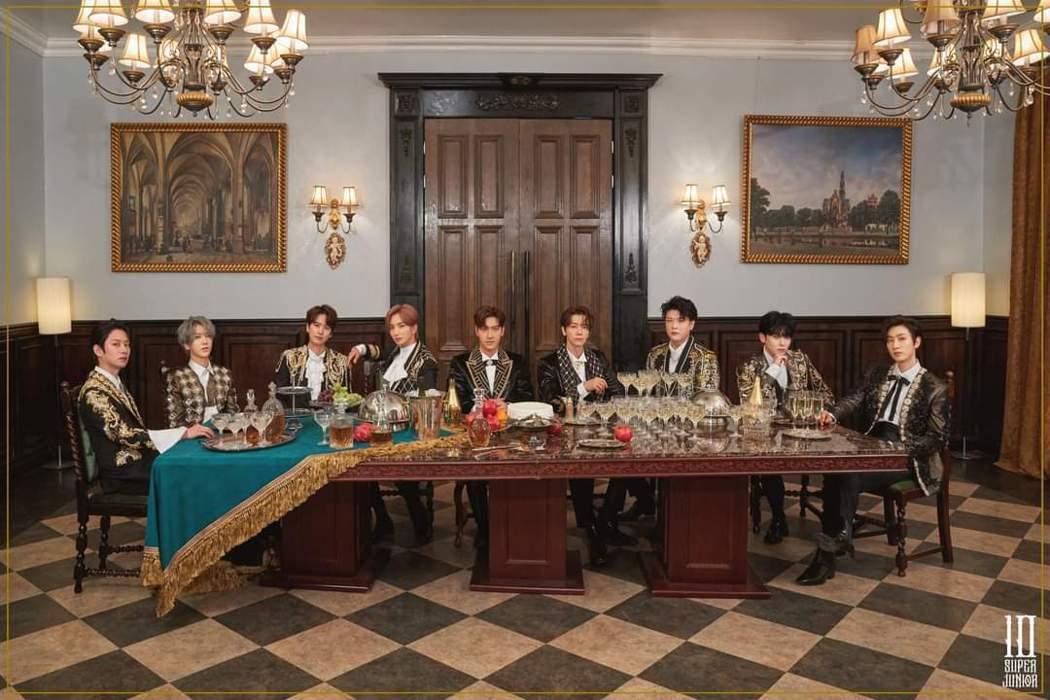 Super Junior發行最新專輯,自備土味情話向台灣粉絲問好。圖/愛貝克思提...