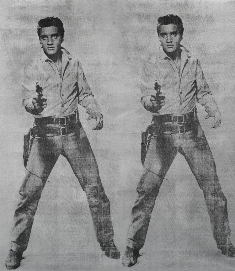 安迪沃荷(Andy Warhol)「雙猫王」1963年,絲網墨、銀彩、麻布,估價...