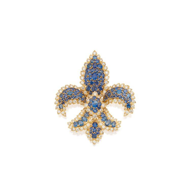 Sapphire and Diamond Clip-Brooch, David ...