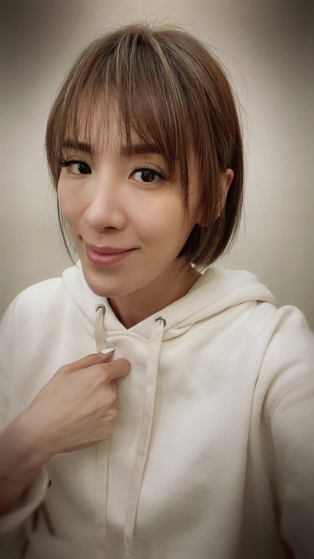 小禎新短髮造型。 圖/擷自小禎臉書