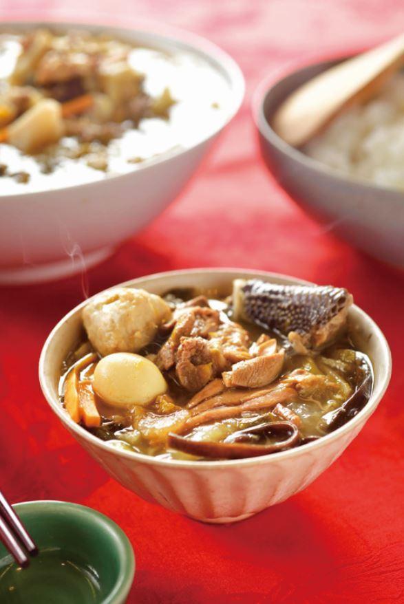 菜尾湯集合七道宴客菜的精華,並非剩菜的集合,而是真正根生自台灣本土的料理。 圖/...
