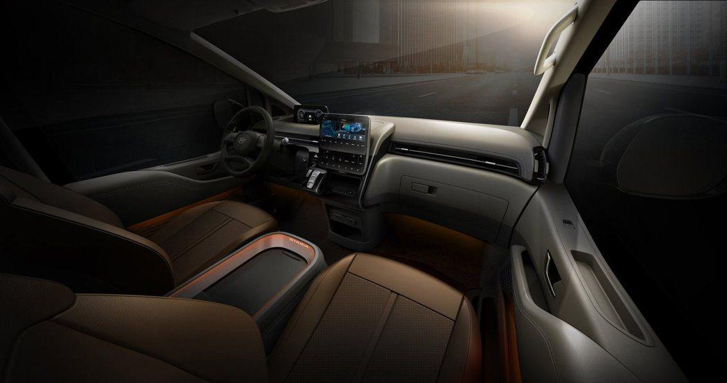 全新Hyundai Staria Lounge車室。 摘自Hyundai
