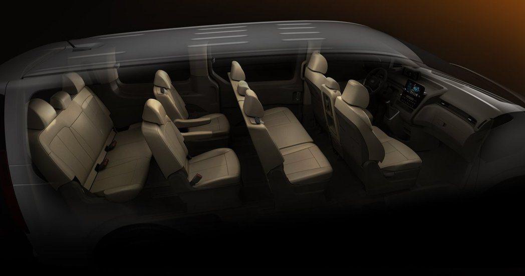 11人座車型的Hyundai Staria。 摘自Hyundai