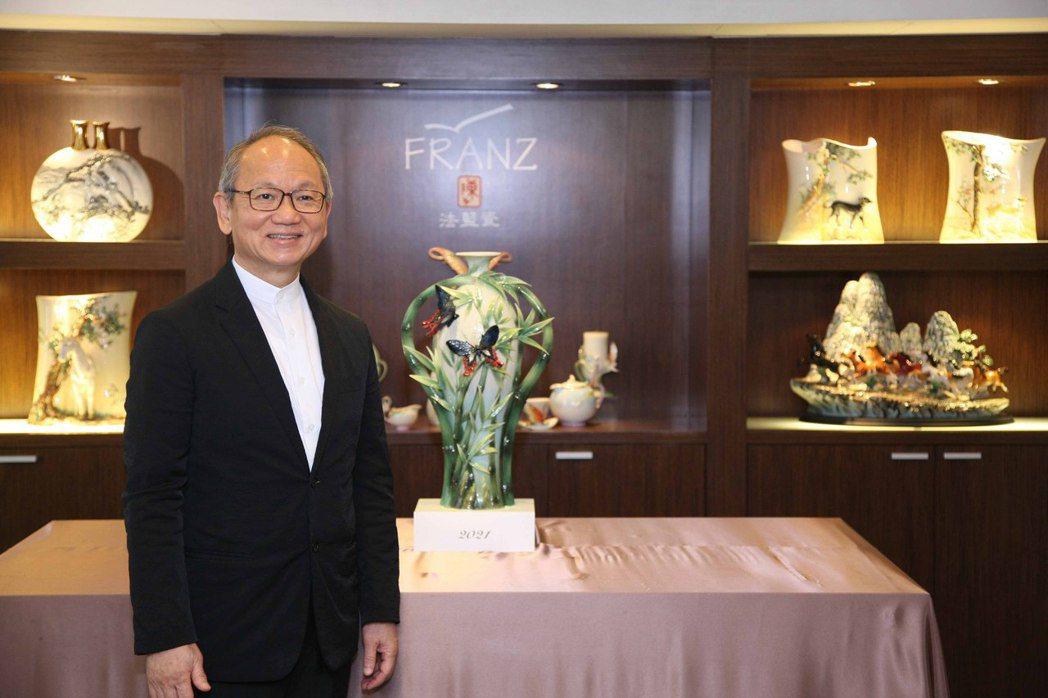 法藍瓷創辦人陳立恆揭曉品牌20年的首款代表新作-福運高升。法藍瓷/提供