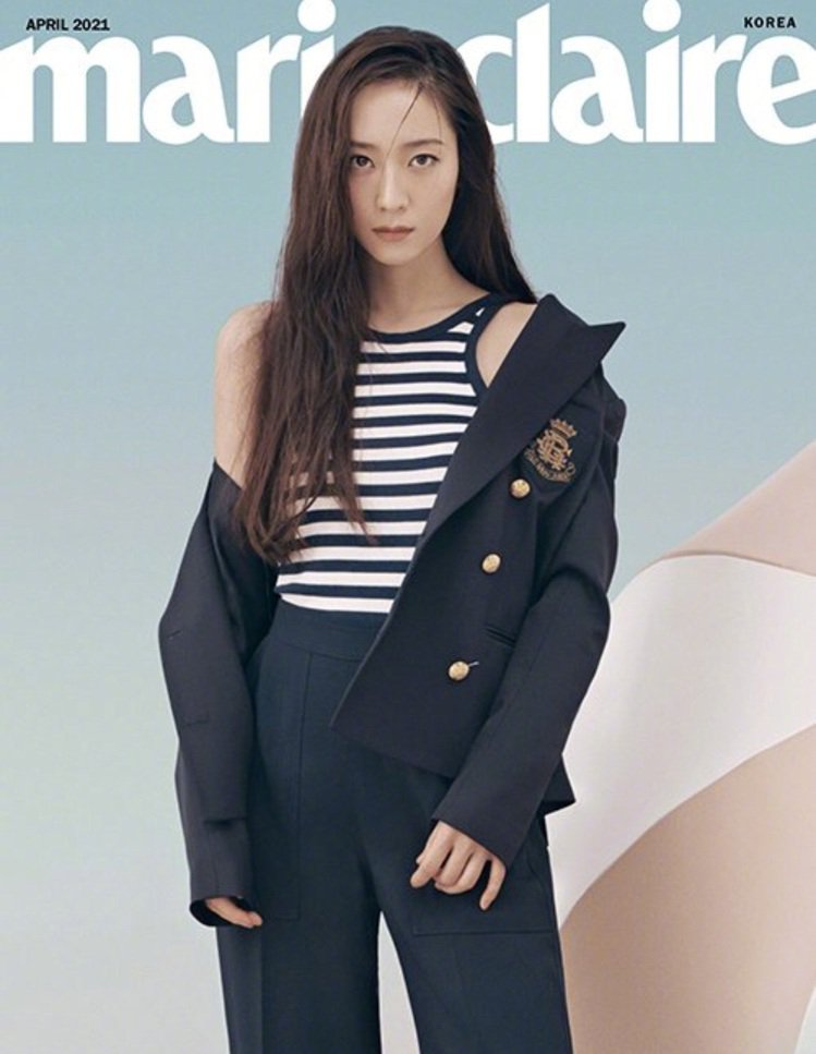 Krystal在Marie Claire韓國版4月號詮釋Ralph Lauren...