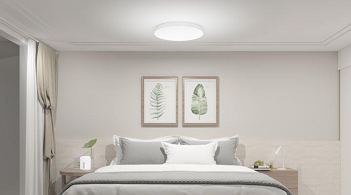 米家吸頂燈 350配備日光及月光兩種照明模式,可根據用戶最舒適的光線,設定起床模...