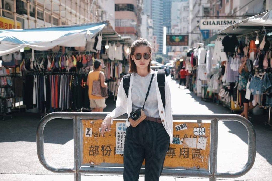 林予晞形容香港旺角「玲瑯滿目」,是逛街的好所在。圖/TVBS提供
