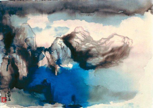 《萬峰青天潑彩山水》是張大千突破傳統山水的力作。圖/帝圖公司
