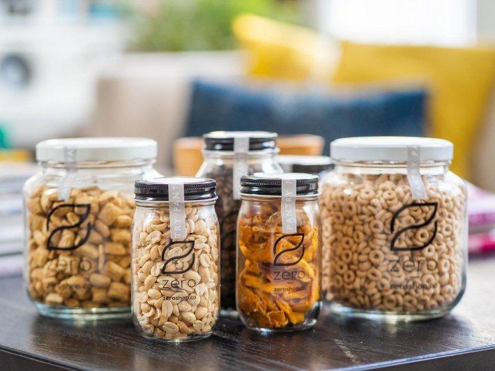 Zero Grocery 提供顧客以環保包材包裝食品的外送服務。 圖/Zero ...