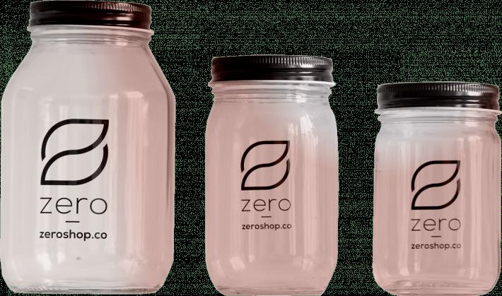 Zero Grocery 不同形式的罐裝包材。 圖/Zero Grocery