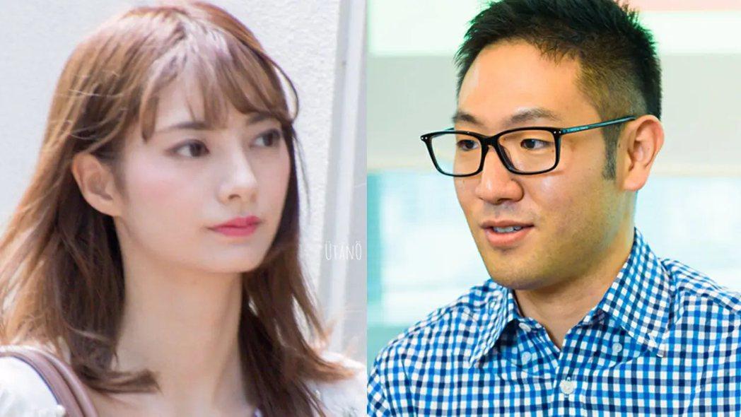 日本女演員星蘭瞳(左)傳出將與TOYOTA社長長男豐田大輔(右)結婚的消息。圖擷