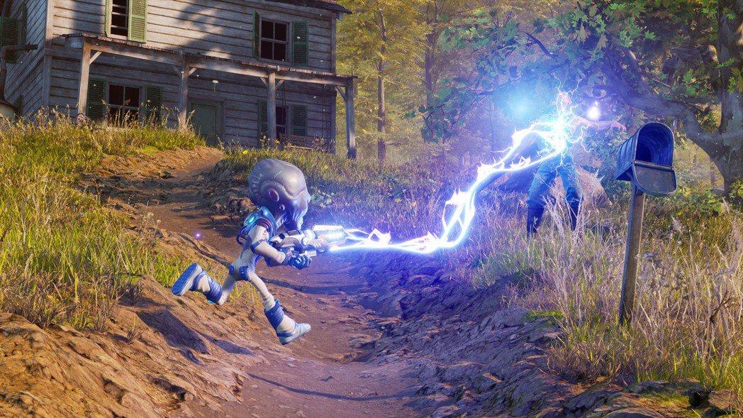 在《毀滅全人類!》中,玩家操作邪惡的外星人以滑稽的方式來消滅人類