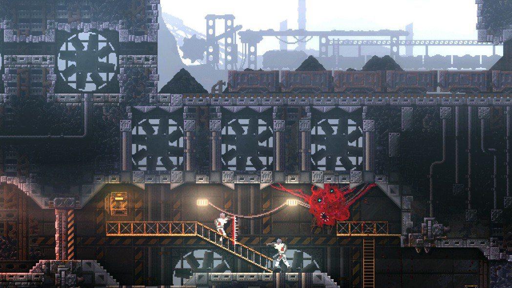 在逆轉恐怖遊戲《紅怪》中,人類和怪物的身份倒轉了過來