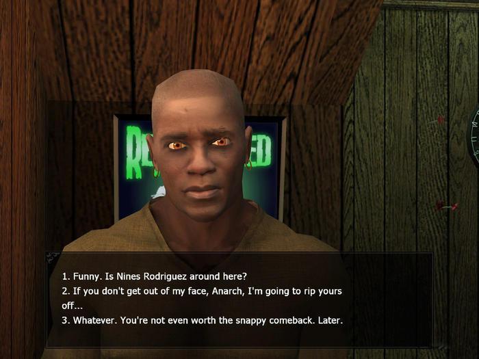 《吸血鬼:惡夜獵殺血族》裡,系統很常讓玩家決定怎樣對待其他角色