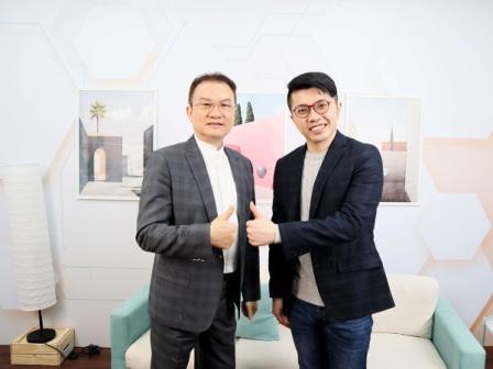 理財周刊發行人洪寶山(左)、廖崧沂(右)