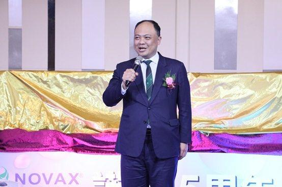 桃園市工商策進會總幹事陳家濬的致詞。 諾瓦材料科技/提供
