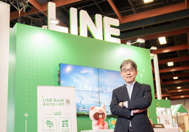 圖/LINE Bank總經理黃以孟。LINE Bank提供