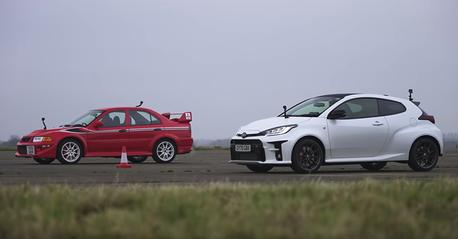影/Toyota GR Yaris再度跨級打怪 這次單挑Mitsubishi Evo!