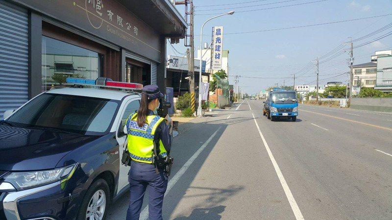 台南市新化警分局公布轄區重點取締路段。記者吳淑玲/翻攝