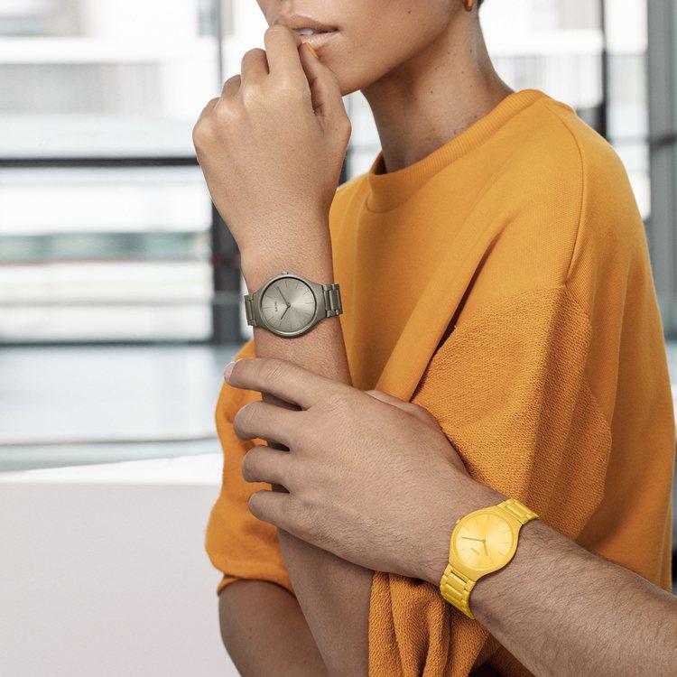 RADO以不同色度、色調的九組主題色,結成9只以建築大師之名的限量純色腕表。圖 ...