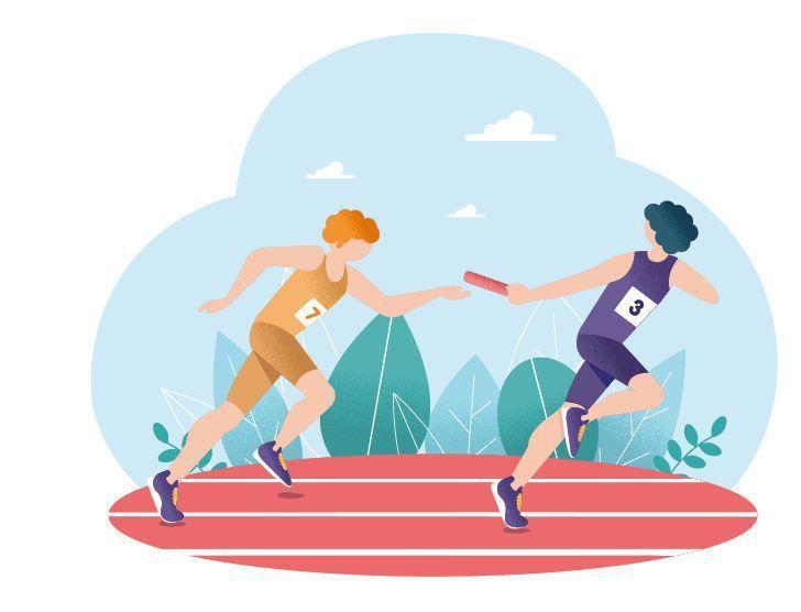 癌症接力治療就像大隊接力,慎選第一棒跑者,之後的選手挑對時間出場,就有勝算。圖/...