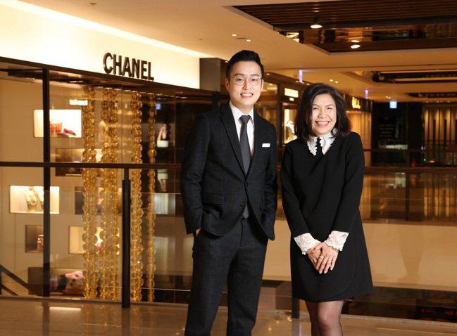麗晶精品租賃協理游博同(左)與貴賓服務部總監江淑芬(右)。攝影/記者林澔一。