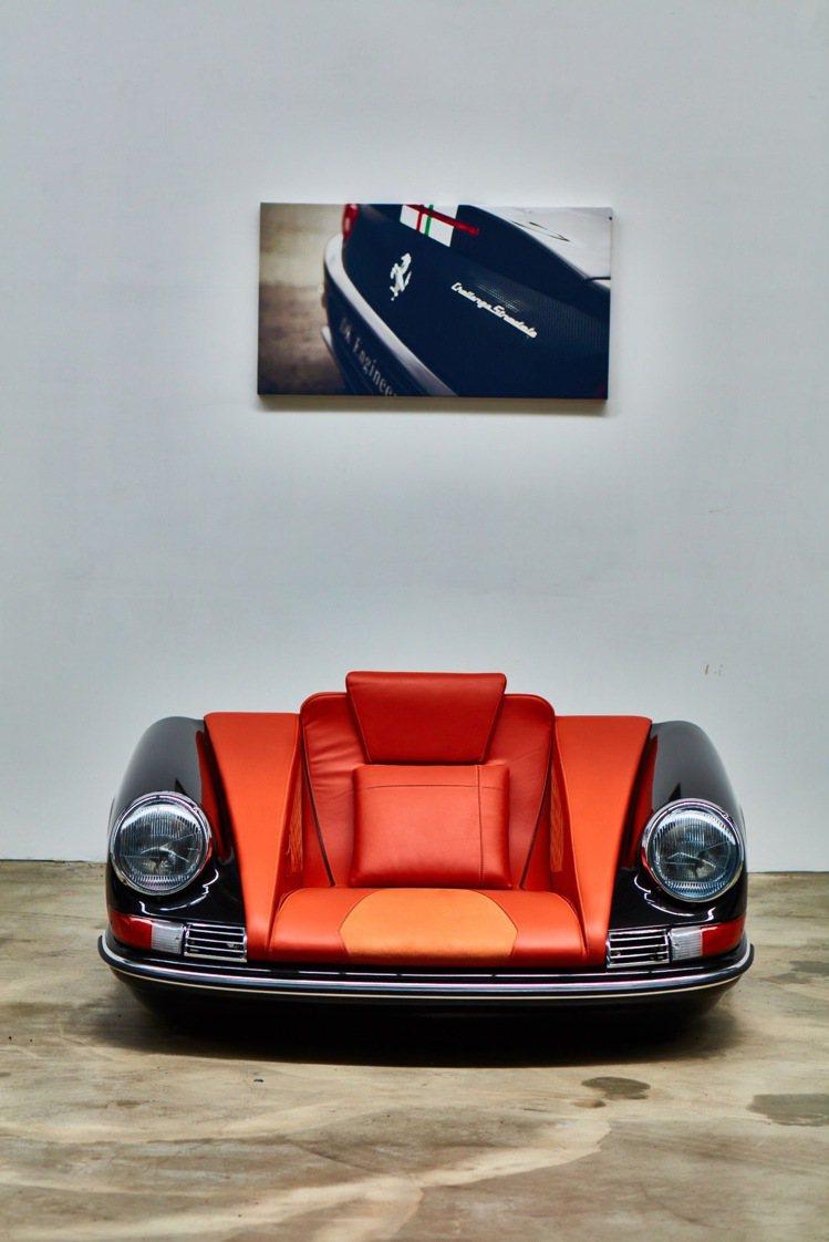 MOT台北門市展出超跑藝術家具Mobellio的作品,圖為901 Poltron...