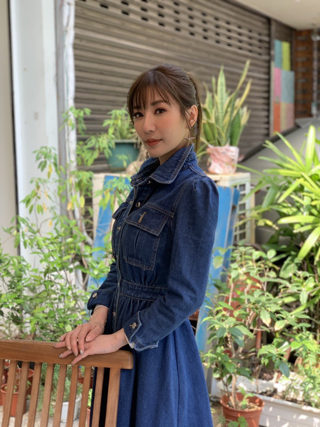 羅巧倫外表美豔,保養得宜。記者陳慧貞/攝影