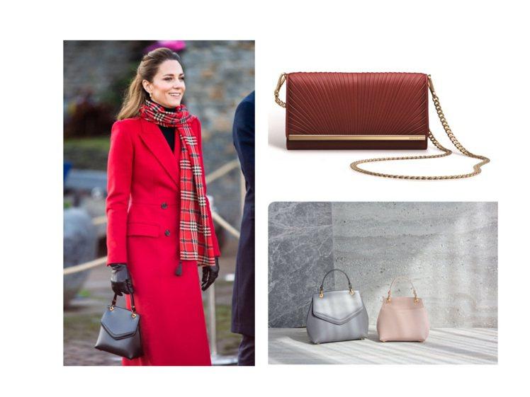 凱特王子妃詮釋的Love Letter提包,目前已可在品牌官網購得。圖/GRAC...