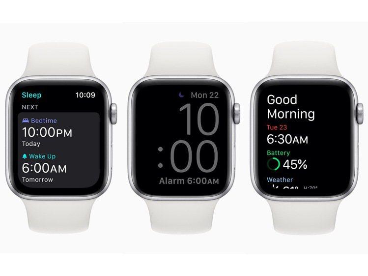 可設定睡眠時間⽬標以達到所需的睡眠量,Apple Watch的「睡眠模式」會⾃動...