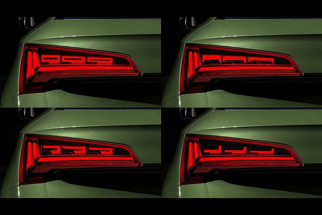 原廠提供三種OLED尾燈動態光型模式,能讓車主出廠前設定其中一種並於離家/返家或...